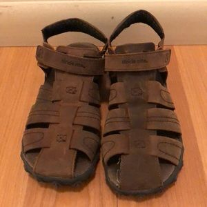Stride Rite Brown Kids Sandals Size 3